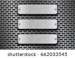 rectangular metal buttons. on... | Shutterstock . vector #662033545