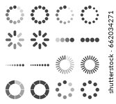 loading bar icon set  vector...