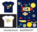 applique in parts and on a t... | Shutterstock .eps vector #662036437