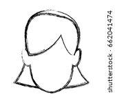 avatar girl woman profile... | Shutterstock .eps vector #662041474