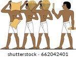 egypt builders  group of man ... | Shutterstock .eps vector #662042401