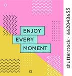 memphis poster 80's 90's styles.... | Shutterstock .eps vector #662043655