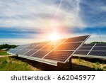 solar panel  photovoltaic ... | Shutterstock . vector #662045977
