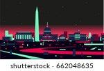 washington dc skyline | Shutterstock .eps vector #662048635