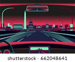 washington dc skyline | Shutterstock .eps vector #662048641