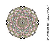 flower mandalas. vintage...   Shutterstock .eps vector #662049274