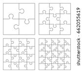 white puzzles 4  9  16 and 25... | Shutterstock . vector #662055619
