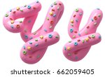 pink cream with colorful sweets ... | Shutterstock . vector #662059405
