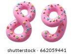 pink cream with colorful sweets ... | Shutterstock . vector #662059441