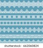 set of white borders isolated... | Shutterstock .eps vector #662060824