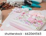 homemade album   folder.... | Shutterstock . vector #662064565