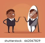happy smiling narcissistic... | Shutterstock .eps vector #662067829