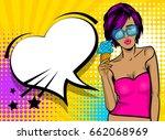 speech bubble comic text wow... | Shutterstock .eps vector #662068969