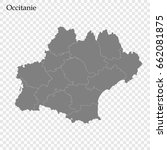 high quality map of occitanie... | Shutterstock .eps vector #662081875