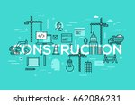 building construction ... | Shutterstock .eps vector #662086231