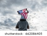 patriotic holiday in usa father ... | Shutterstock . vector #662086405
