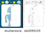 preschool worksheet for... | Shutterstock .eps vector #662090155