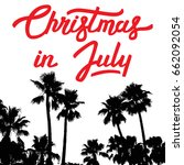christmas in july. vector... | Shutterstock .eps vector #662092054