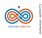 infinity sign with two hands... | Shutterstock .eps vector #662092771
