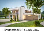 3d rendering of modern cozy... | Shutterstock . vector #662092867
