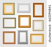 vector set of picture frames on ... | Shutterstock .eps vector #662094841