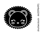 kawaii animal icon | Shutterstock .eps vector #662096491