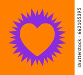 simple heart icon. violet spiny ... | Shutterstock .eps vector #662105395