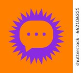 chat icon. violet spiny circle... | Shutterstock .eps vector #662106325