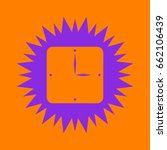simple clock icon. violet spiny ... | Shutterstock .eps vector #662106439