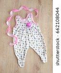 romper and heart. romper for... | Shutterstock . vector #662108044