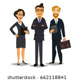 business people group standing... | Shutterstock .eps vector #662118841