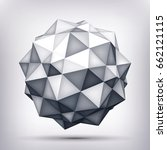volume polyhedron gray star  3d ... | Shutterstock .eps vector #662121115