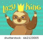 animal sloth vector...   Shutterstock .eps vector #662123005