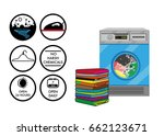different icons for a... | Shutterstock .eps vector #662123671