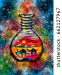 dubai sand art souvenir...   Shutterstock . vector #662127967