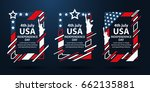 usa independence day. modern... | Shutterstock .eps vector #662135881