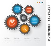 seo icons set. collection of... | Shutterstock .eps vector #662141587