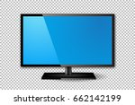 flat tv screen realistic vector ... | Shutterstock .eps vector #662142199