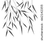 vector bamboo leaves | Shutterstock .eps vector #662142355
