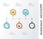 advertising icons set.... | Shutterstock .eps vector #662143399