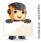 cute robot mascot cartoon...   Shutterstock .eps vector #662144941