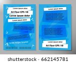 flyer cover business brochure... | Shutterstock .eps vector #662145781