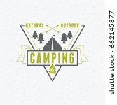 summer holidays camping poster. ...   Shutterstock .eps vector #662145877