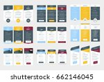 collection of coloful pricing... | Shutterstock .eps vector #662146045