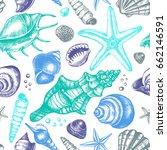 decorative seamless pattern... | Shutterstock .eps vector #662146591