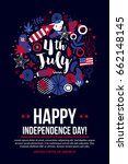 4 july independence day banner... | Shutterstock .eps vector #662148145