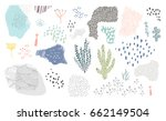creative background with floral ... | Shutterstock .eps vector #662149504