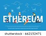 ethereum concept vector... | Shutterstock .eps vector #662152471