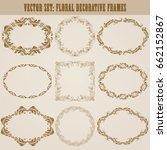 vector set of decorative hand... | Shutterstock .eps vector #662152867