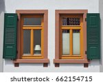 old window at an old half... | Shutterstock . vector #662154715